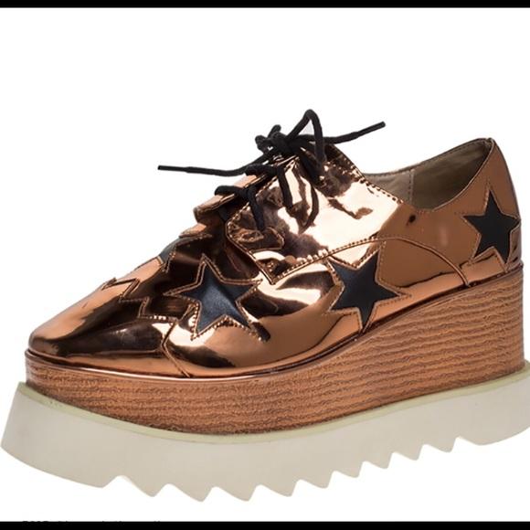 Stella Mccartney Shoes Stella Mccartney Elyse Metallic Bronze Star Size 8 Poshmark